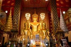 Great Buddha at Hariphunchai Temple. Lamphun province, North of Thailand Royalty Free Stock Image