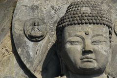Great Buddha head and halo Royalty Free Stock Photos