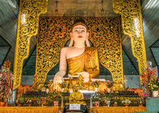 The great Buddha Image Statue in Luang Phor To main temple hall Stock Image