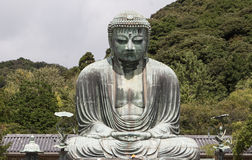 The Great Buddha at the Kōtoku-in Temple. Amitābha Buddha Kōtoku-in Temple in Kamakura, Kanagawa Prefecture, Japan Stock Image