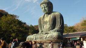 Great Buddha Kamakura. The Great Buddha of Kamakura is a monumental outdoor bronze statue of Amitābha Buddha located at the Kōtoku-in Temple in Kamakura stock photos