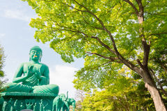 The great Buddha of Nagoya with tranquil place in forest. Royalty Free Stock Photo