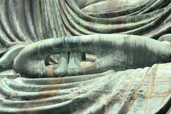 The Great Buddha's hands in Japan by making circles w Stock Photo