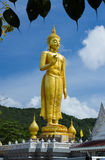The great buddha. The great standing buddha is locate on Hat-yai Royalty Free Stock Photos