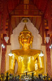 The great Buddha statue. The ancient Buddha in famous temple in Thailand wat si khom kham . Generally in Thailand, any kinds of art decorated in Buddhist church stock photography