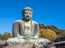 Great Buddha statue Daibutsu at Kamakura Stock Photo