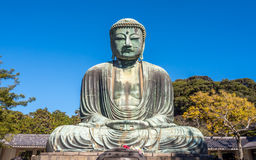Great Buddha statue Daibutsu at Kamakura Royalty Free Stock Image