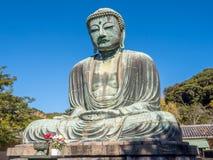 Great Buddha statue Daibutsu at Kamakura Royalty Free Stock Images