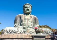 Great Buddha statue Daibutsu at Kamakura Stock Photos