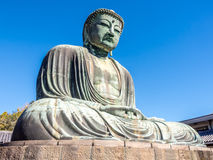 Great Buddha statue Daibutsu at Kamakura Royalty Free Stock Image