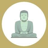 The great buddha statue in Kamakura, Japan. Icon Stock Illustration