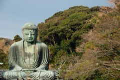 The Daibutsu. Great Buddha statue at Kotoku-in Temple in Kamakura, one of the largest bronze Buddha in Japan Stock Images