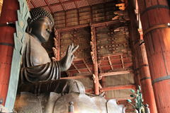 The Great Buddha of Todai ji in Nara Stock Photo