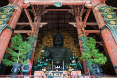 Great Buddha of Todai-ji temple in Nara Royalty Free Stock Photography