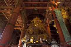 The Great Buddha in Todai-ji temple Royalty Free Stock Images