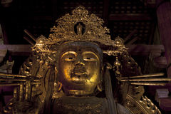 The Great Buddha in Todai-ji temple Stock Image