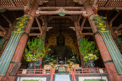 The Great Buddha in Todai-ji temple. Royalty Free Stock Photos