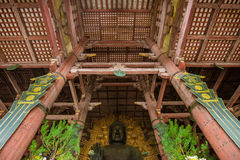 The Great Buddha in Todai-ji temple. Royalty Free Stock Images