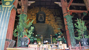 Great Buddha in Todaiji Temple in Nara, Japan Stock Images