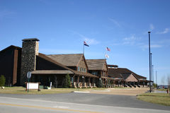 Great building. A recently finished building housing a restaurant and motel stock images