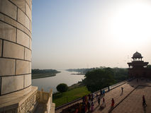 Great building looking, Taj Mahal. The looking from the great building of white marble, Taj Mahal Royalty Free Stock Photos