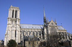 Great building of notre dame in paris Stock Photos