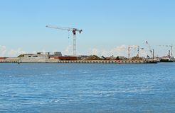 Great building site on the seashore for the construction of a da Stock Image
