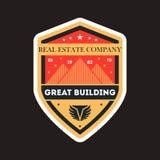 Great building vintage vector label Stock Image