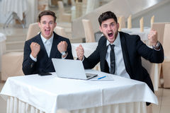 Great business emotions. Well done job Royalty Free Stock Photography