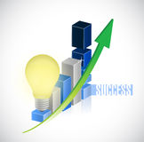 Great business idea graph chart illustration Royalty Free Stock Photography