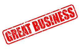 GREAT BUSINESS red stamp text Royalty Free Stock Photos
