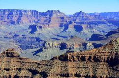 Great Canyon. Desolate Scene of Famous Gorge royalty free stock images