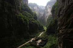 Great canyon. China's chongqing wulong natural three bridge, the location of transformers and other 4 movies Stock Photos