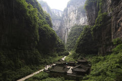 Great canyon. China's chongqing wulong natural three bridge, the location of transformers and other 4 movies Royalty Free Stock Photography