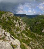 The Great canyon in Crimea Stock Image