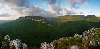 The great canyon. Of the Crimea Royalty Free Stock Photo