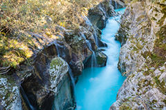 Great canyon of Soca river, Slovenia royalty free stock photos