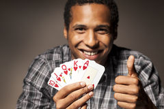 Great card combination Stock Photo