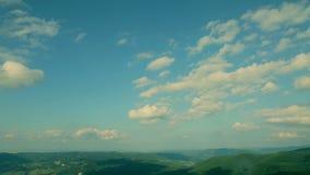 Great Carpathian landscape panorama stock video