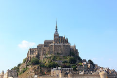 The great castle of Mont St-Michel. In France Stock Photography