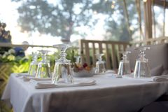 Great catering. Fashionable catering in beautiful interiors Royalty Free Stock Photography
