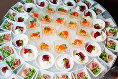 Great catering. Fashionable catering in beautiful interiors Royalty Free Stock Images