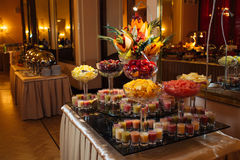 Great catering. Fashionable catering in beautiful interiors Stock Photo