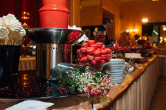 Great catering. Fashionable catering in beautiful interiors Stock Images