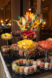 Great catering. Fashionable catering in beautiful interiors Royalty Free Stock Photo