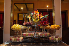 Great catering. Fashionable catering in beautiful interiors Stock Photos