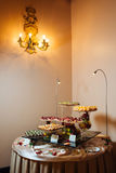 Great catering. Fashionable catering in beautiful interiors Stock Photography