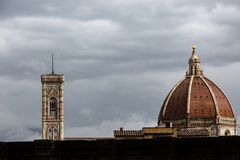 Great cathedral of Florence stock image