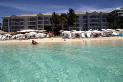 Great Cayman Marriott Beach Resort. The Beach House Experience Grand Cayman Marriott Beach Resort on Seven Mile Beach Georgetown, CI Stock Photography