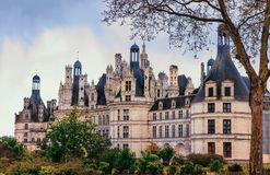 Chambord castle -  masterpiece of Renaissance architecture. Famo Royalty Free Stock Image